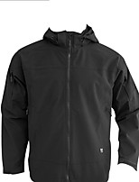 Hiking Softshell Jacket Men's Waterproof / Breathable / Thermal / Warm / Windproof / Wearable Winter Terylene Black