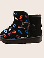 Boy's Boots Winter Comfort PU Casual Flat Heel Others Black / Red / Peach Walking