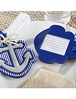 1pcs Rubber Nautical Anchor Rubber Luggage Tag Table Place Card Holder Favor