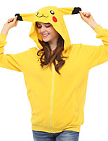 Inspiré par Cosplay Cosplay Anime Costumes de cosplay Hoodies Cosplay Mosaïque Jaune Manche Longues Top
