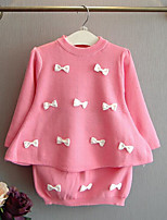 Girl's Casual/Daily Floral Clothing SetCotton Spring / Fall Pink