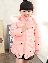 Girl's Casual/Daily Print Down & Cotton PaddedCotton Winter Green / Pink / Purple / Red