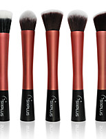5 Makeup Brushes Set Nylon Professional / Portable Metal Face / Eye Red