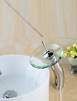 High Quality Stylish Glass Vessel Waterfall Faucet - Chrome