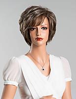 nouvelle arrivée élégante capless courte ligne droite perruques de haute qualité des cheveux humains couleur mélangée 8 Maxi