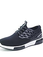 Черный / Синий / Серый-Мужской-На каждый день / Для занятий спортом-Тюль-На плоской подошве-Удобная обувь-Кеды