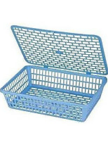 924A File Plastic Storage Rack Basket Paper Basket With A Cover Document Basket Storage Box