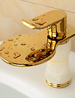 Fashion Waterfall Brass Ti-PVD Bathroom Sink Faucet