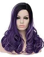 européen et américain perruque cosplay populaire gradient violet 22 pouces