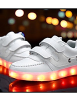 LED Light Up Shoes,Boy's Sneakers Spring / Summer / Fall / Winter Comfort Leather Outdoor / Athletic / Casual Low Heel/ Lace-up Black / Pink / White