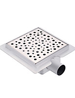 150mmX150mm Stainless Steel 304 Horizontal Shower Drain with Surrounding Tile Flange Waste Side Outlet with Bubble Hole on Surface
