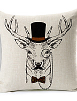 Polyester Decorative Cushion Pillow Cover Print Animal Deer Sofa Home Decor 45x45cm