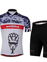 Deportes Maillot de Ciclismo con Shorts Unisex Mangas cortas BicicletaTranspirable / Secado rápido / Diseño Anatómico / Resistente a los