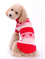 Classic Two-tone Heart Pattern Warm Sweater Dogs Clothes for Puppy Pets Dogs (Assorted Sizes and Colours)