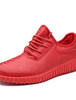 Unisex Athletic Shoes Spring Summer Fall Winter Platform Comfort Leatherette Outdoor Casual Athletic Platform Creepers Lace-upBlack Red