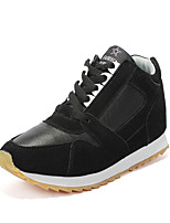 Women's Sneakers Spring / Fall Comfort PU Casual Flat Heel Black / Red / Gray / Fuchsia Sneaker