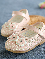 Girl's Flats Spring Summer Fall Comfort First Walkers Leather Outdoor Casual Flat Heel Applique Magic Tape Yellow Pink White Others