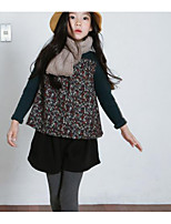Girl's Casual/Daily Solid DressCotton Spring / Fall Black / Blue / Red
