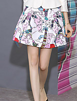 I'HAPPY Women's Floral Purple SkirtsCute Above Knee