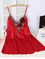 Damen Besonders sexy Nachtwäsche,Sexy einfarbig-Viskose Dünn Lila / Grün / Rote Damen