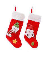 рождественские носки мешок подарка размер рождественские украшения рождественские чулки подарок конфеты бархата чулки
