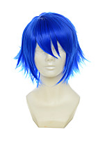 Vocaloid Kaito Itsuka Tenma No Kuro Usagi Blue Multipurpose Upturned Short Halloween Wigs Synthetic Wigs Costume Wigs
