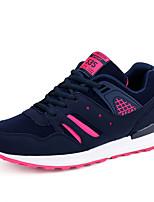 Синий Тёмно-синий Оранжевый Черный и красный Черный и белый-Женский-Для занятий спортом-Полиуретан-На плоской подошве-Удобная обувь-Кеды