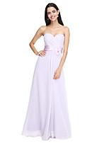 2017 Lanting bride® podlahy Délka šifónové družička elegantní šaty - špagetová ramínka withflower (y)