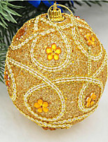 Christmas Decorations 8 Cm Luxury Sequins High-grade Dress Decorate Christmas Balls Christmas Tree To Hang Color Random
