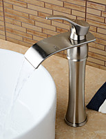 Contemporary / Art Deco/Retro / Modern Centerset Waterfall /Pre Rinse with  Ceramic Valve Single Handle Two Holes for