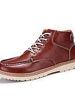 Men's Boots Spring Fall Winter Comfort Leather Outdoor Casual Flat Heel Lace-up Black Blue Brown Walking