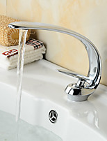 Art Deco/Retro Centerset Waterfall / Widespread / Pre Rinse with  Ceramic Valve Single Handle Two Holes for  Antique