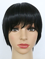 Sale Synthetic Wigs Short Straight Hair Black Color Wigs for Afro Women
