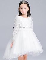 Dívka je Běžné/Denní Jednobarevné Zima / Jaro / Podzim Šaty Bavlna Bílá