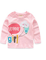 Girl's Casual/Daily Print TeeCotton Fall Pink