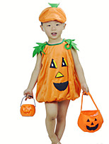 Children 's Halloween Orange pumpkin Cosplay Top Hat Suits Masquerade Costumes