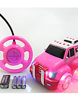 Car Racing 566-13B 1:10 Brush Electric RC Car / 2.4G Pink Ready-To-Go Remote Control Car