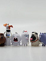 The Secret Life of Pets Key Ring PVC 5cm Anime Action Figures Model Toys Doll Toy 1set