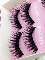 Eyelashes lash Full Strip Lashes Eyes Thick Volumized Half Handmade Fiber Black Band 0.10mm