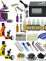 OPHIR 350pcs Pro Tattoo Kit 3 Tatoo Machine with 7 Pigment 10ml/Bottle