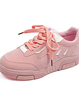 Women's Athletic Shoes Spring Fall Winter Others Leather Casual Athletic Lace-up Black Pink Gray Others