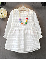 Girl's Casual/Daily Polka Dot Dress / Overall & JumpsuitCotton Spring / Fall White