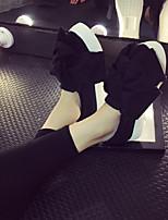 Черный / Серый-Женский-На каждый день-Полиэстер-На платформе-Удобная обувь-Мокасины и Свитер