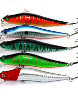 1 pcs Hard Bait / Minnow / Fishing Lures Hard Bait / Minnow Random Colors 10 g Ounce mm inch,Soft Plastic Bait Casting