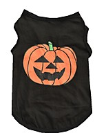 Cute Halloween Pumpkin Cottton Vest for Pets Summer Dog Clothes