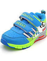 Boy's Sneakers Spring / Fall Comfort PU Casual Flat Heel Magic Tape Blue Sneaker