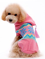 Sweety Classic Snowflakes Pattern Sweater with Hoodie for Pets Dogs Clothing (Assorted Sizes)