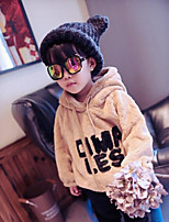 Girl's Casual/Daily Solid Hoodie & SweatshirtCotton Winter / Spring / Fall Brown