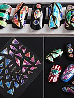 24pcs Irregular Aurora Glass 3D Nail Stickers With Beijiao GEM Models