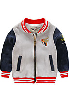 Boy's Casual/Daily Striped Jacket & CoatCotton Spring / Fall Black / Red / Gray